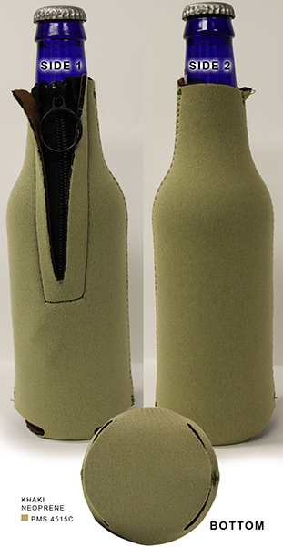 Neoprene Zipper Bottle Holder